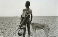 Sahel: boy and dog, 1984