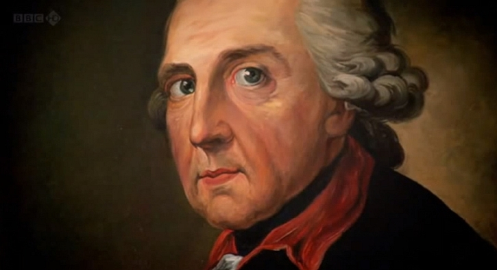 Swiss artist Anton Graff's haunted-looking portrait of Frederick the Great, painted in 1781. It was said to be highly accurate.