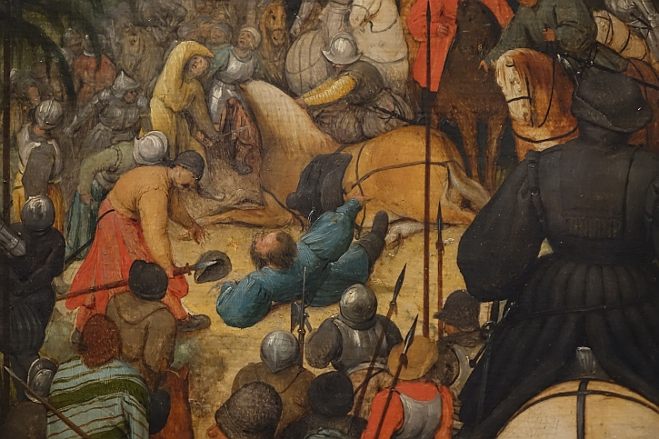 The Conversion of St Paul, detail