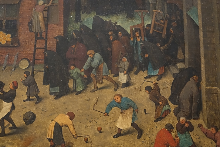 The Fight Between Carnival and Lent, detail: the penitents