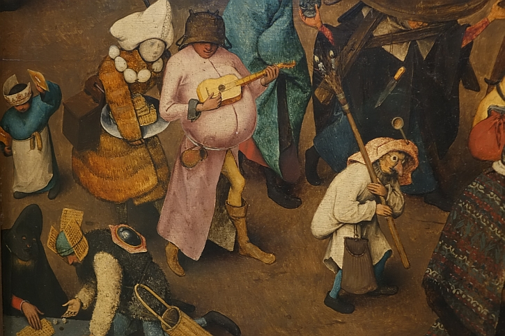 The Fight Between Carnival and Lent, detail: waffles