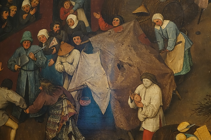 The Fight Between Carnival and Lent, detail: the travelling players