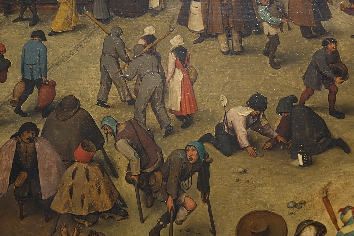 The Fight Between Carnival and Lent, detail: beggars on the street