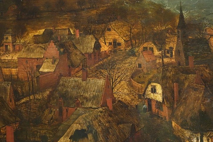 The Gloomy Day, detail: the Flemish village