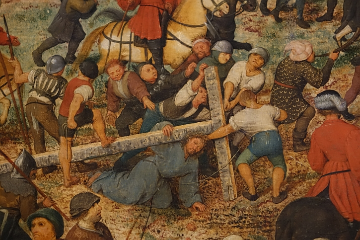 The Procession to Calvary, detail : Christ and the cross