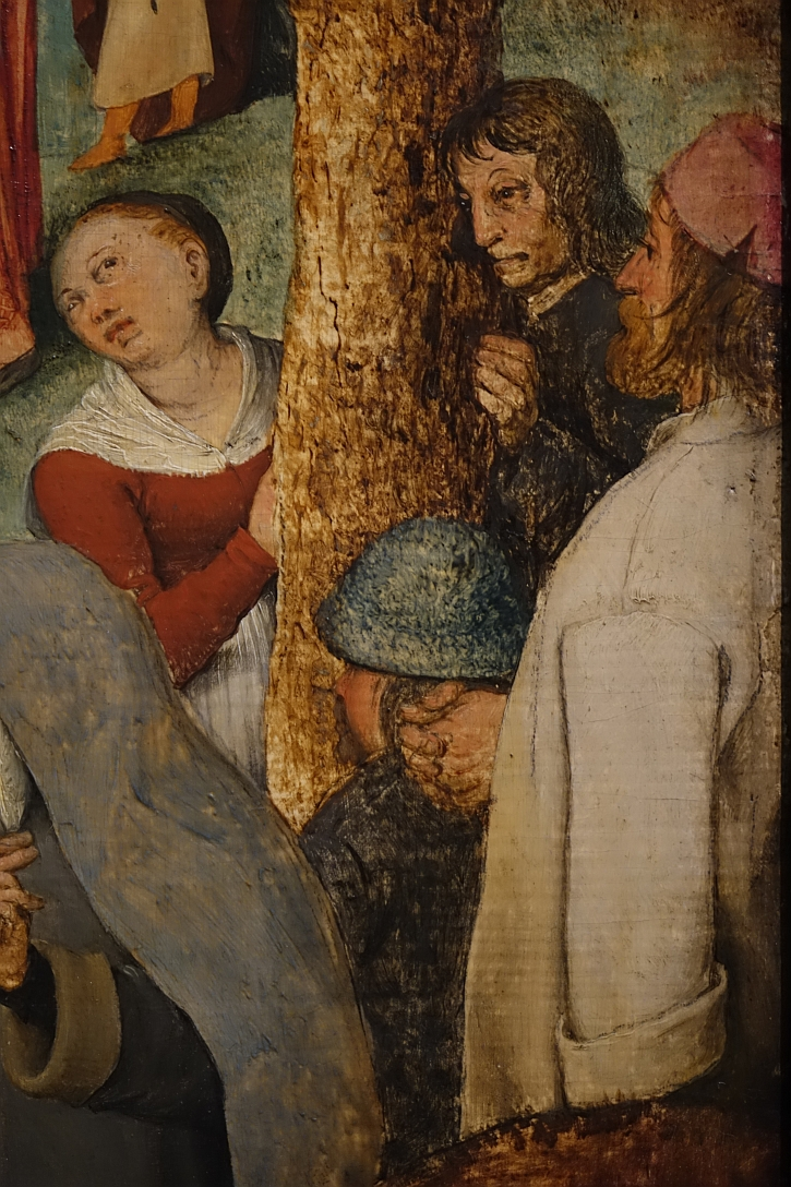 The Procession to Calvary, detail: a self portrait?