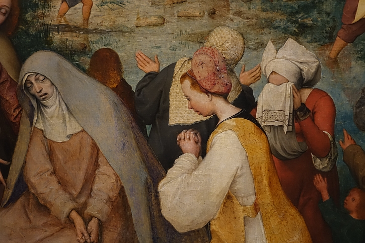 The Procession to Calvary, detail : Mary, mother of Jesus