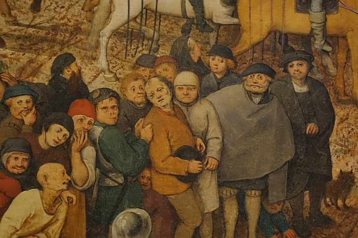 The Procession to Calvary, detail: just gawping