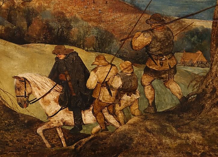 The Return of the Herd, detail: the herdsmen