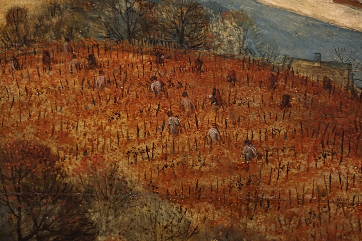 The Return of the Herd, detail: harvesting grapes from the vineyard
