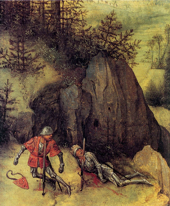 The Suicide of Saul, detail