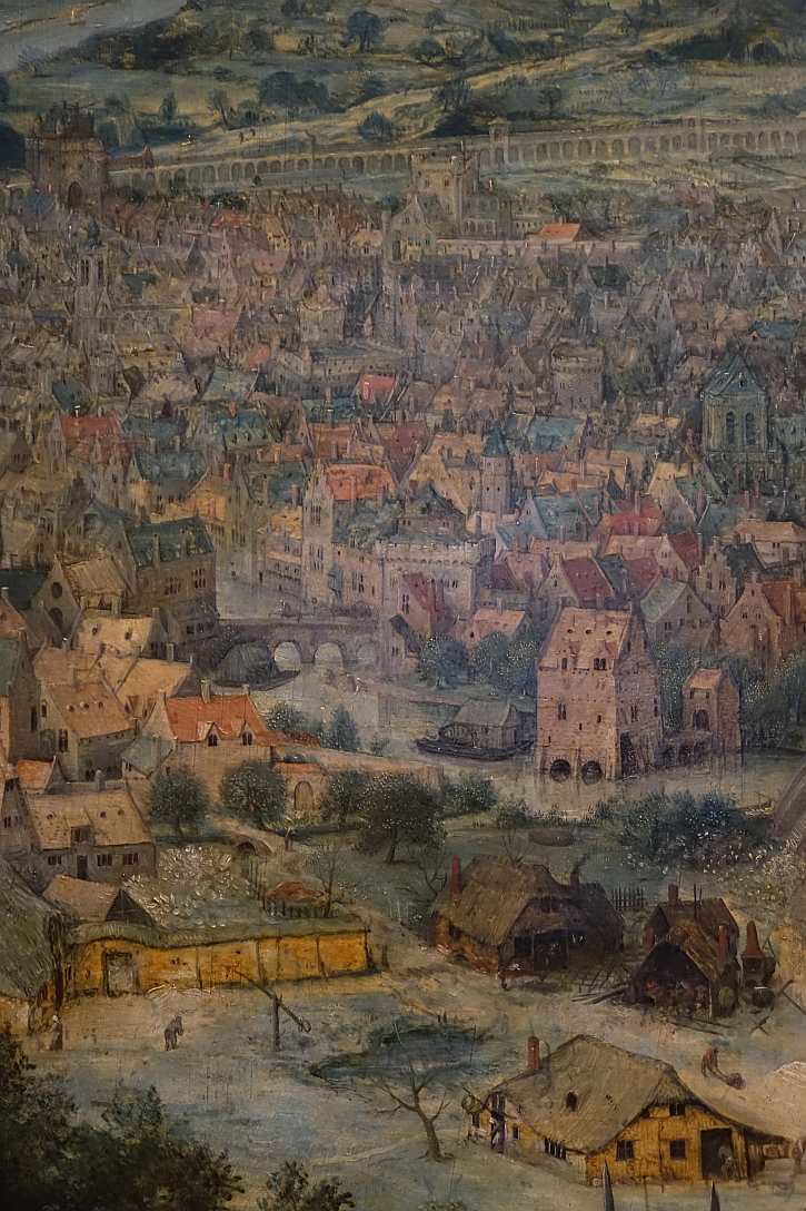 The Tower of Babel, detail: a contemporary Flemish city
