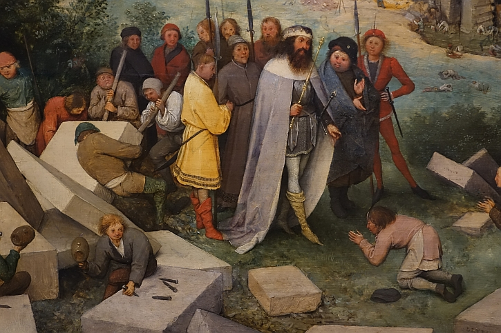 The Tower of Babel, detail: Nimrod and the stonemasons