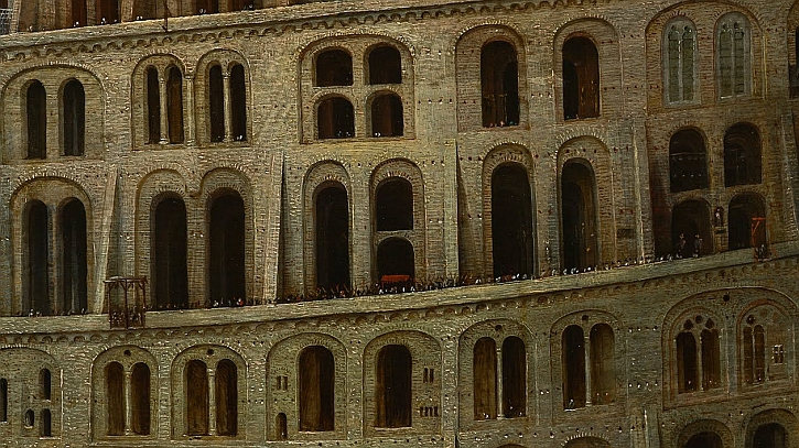 The Tower of Babel (Rotterdam), detail: the procession