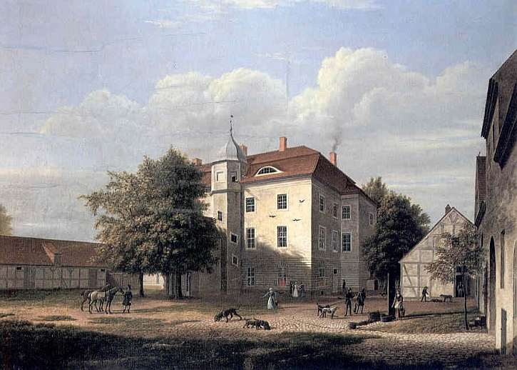 Wilhelm Barth, Grunewald hunting lodge,1832