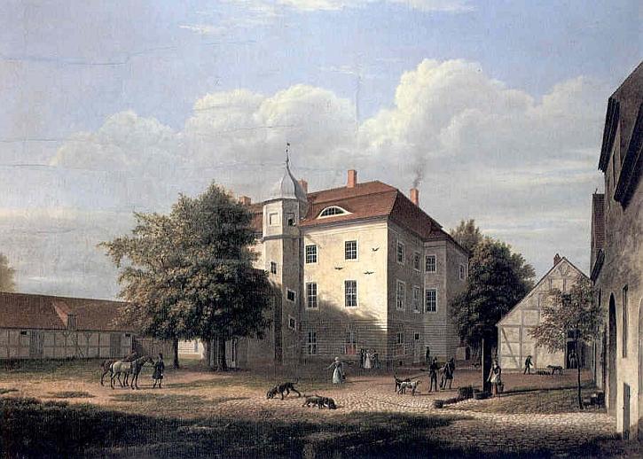 Wilhelm Barth, Grunewald hunting lodge,1832