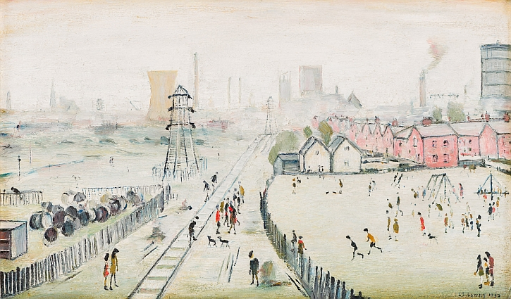 LS Lowry, A View of York From Tang Hall Bridge, 1952