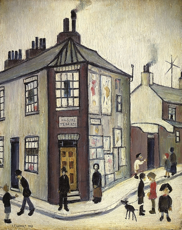 LS Lowry, Wilson's Terrace, 1952