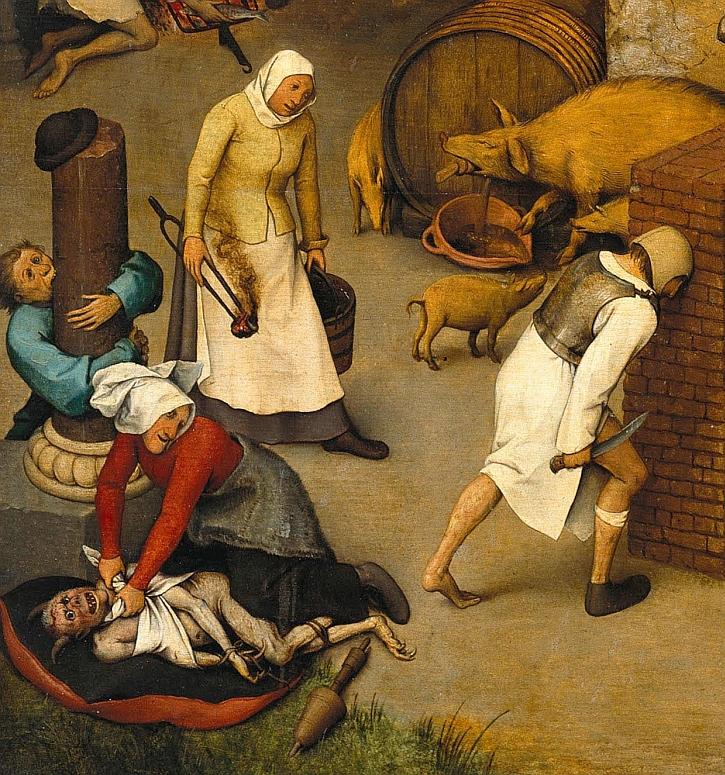 Pieter Bruegel, Netherlandish Proverbs, 1559 (detail)