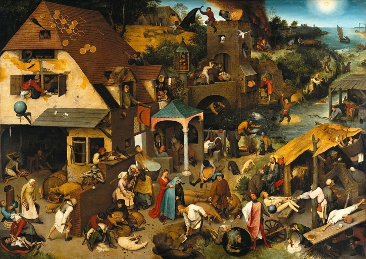 Pieter Bruegel, Netherlandish Proverbs, 1559