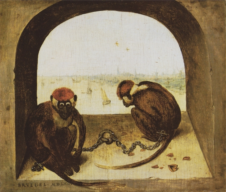 Pieter Bruegel, Two Monkeys,1562