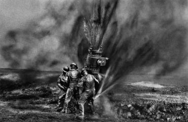 Workers: oil fire-fighters in Kuwait