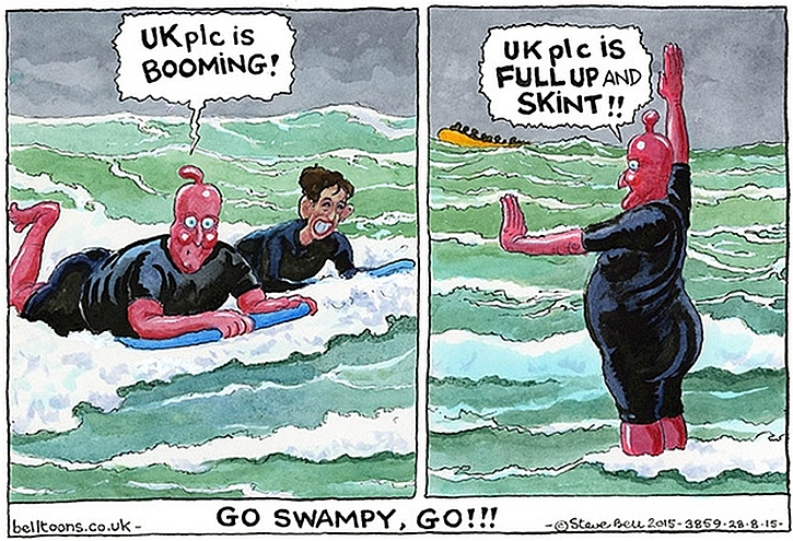 Steve Bell cartoon from the Guardian