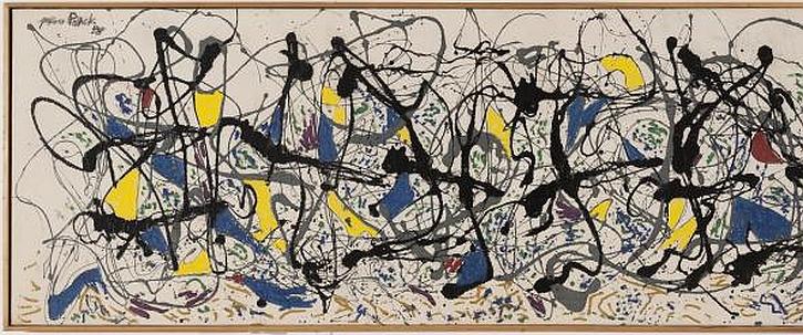 Jackson Pollock, Summertime: Number 9A, 1948 (detail, left)