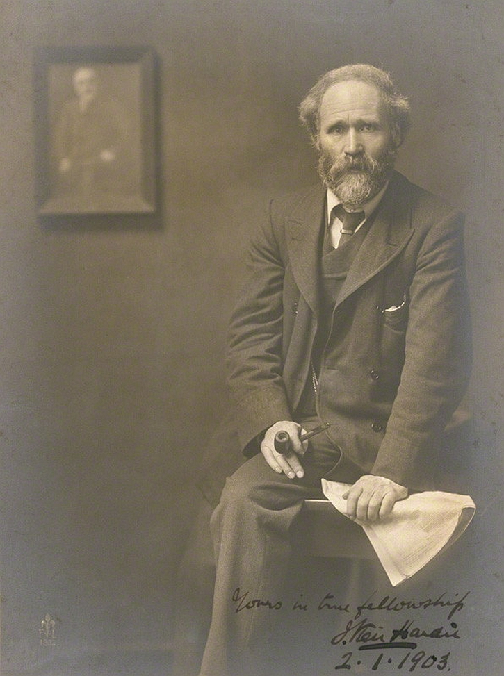 Keir Hardie photographed by John Furley Lewis in 1902 (National Portrait Gallery)