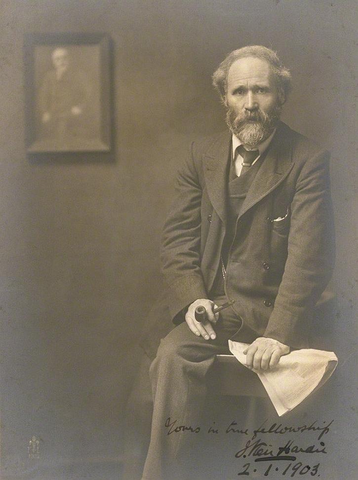 Keir Hardie photographed by John Furley Lewis in 1902 (National Portrait Gallery)