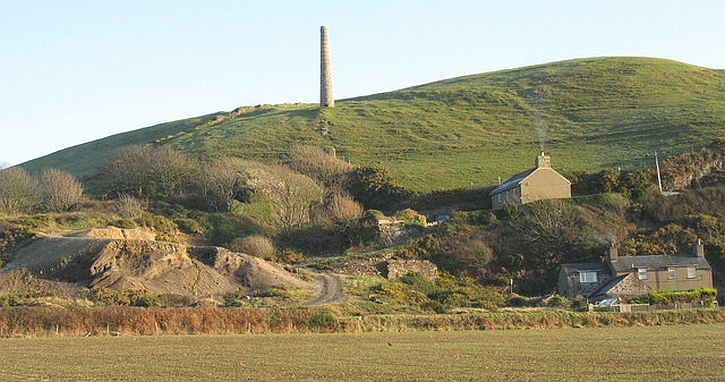 Llanengan lead smelting chimney