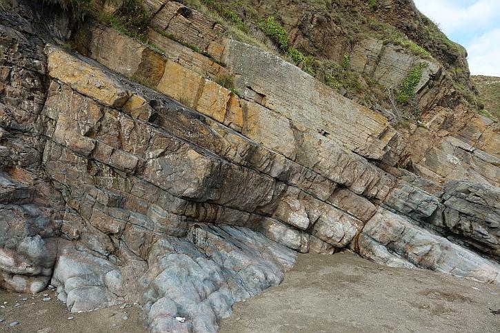 'Time's unflinching rigour': primeval rocks at Porth Ysgo