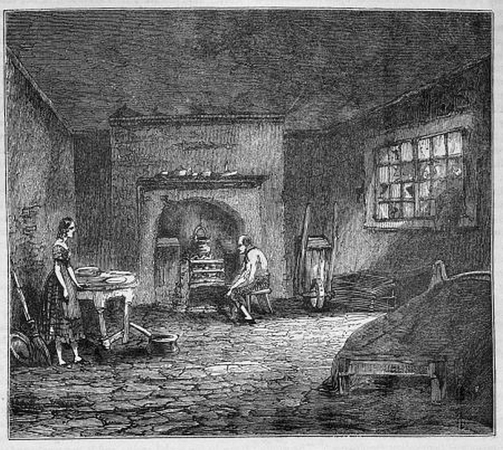 A Manchester cellar: from George Catt, Pictorial History of Manchester (1844)