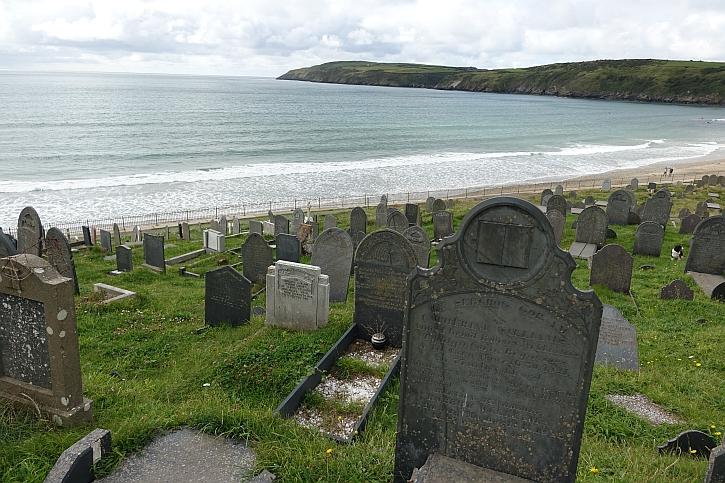The graveyard of Aberdaron church
