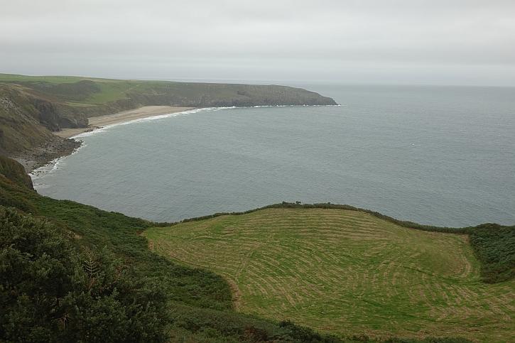 On Mynydd Cilan, looking across Porth Ceiriad towards Abersoch