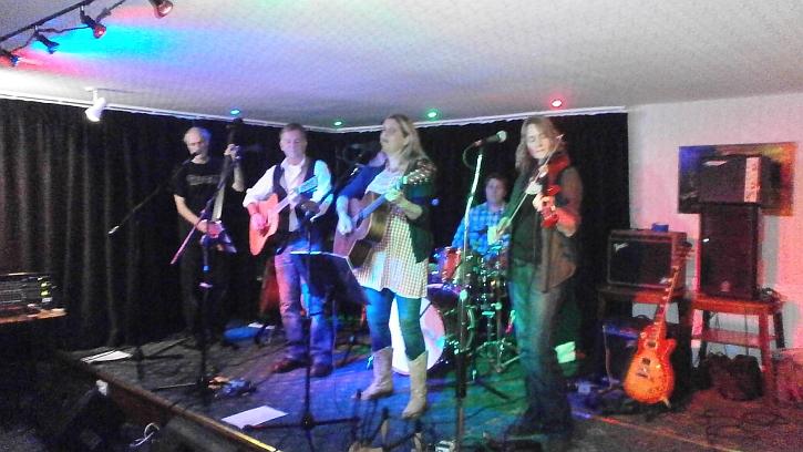 Big Stone Gap on stage at Doveridge Village Hall