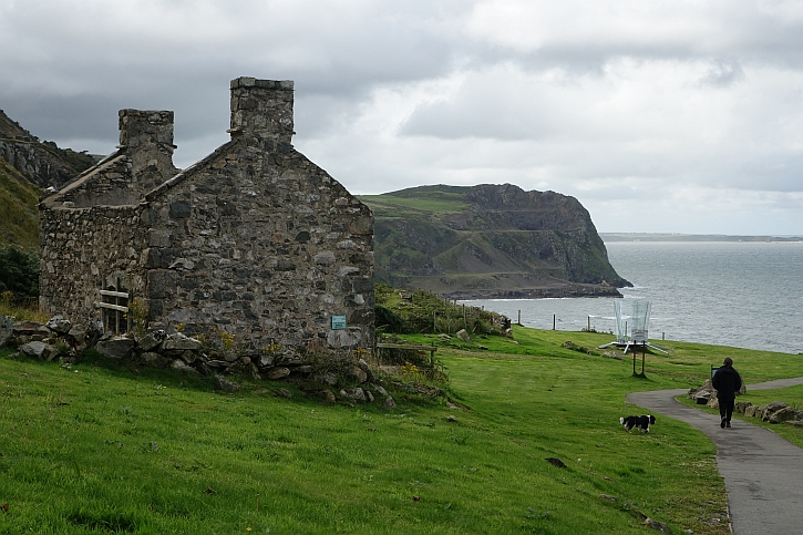 Remains of quarrymens' cottages at Nant Gwrtheryn today
