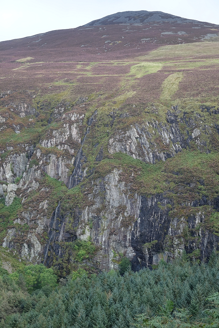 The sheer rock face of Nant Gwrtheryn