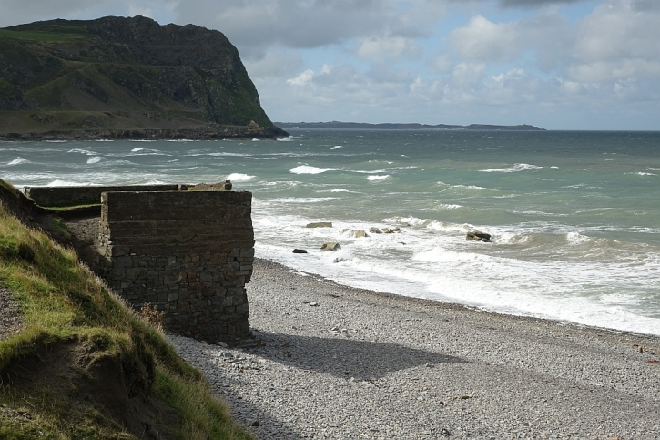 The remains of the jetty at Porth y Nant