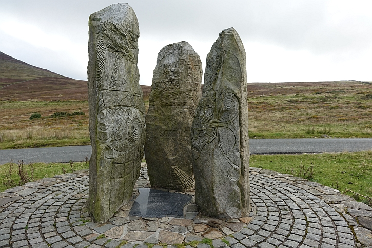 The sculpture at Nant Gwrtheryn top car park