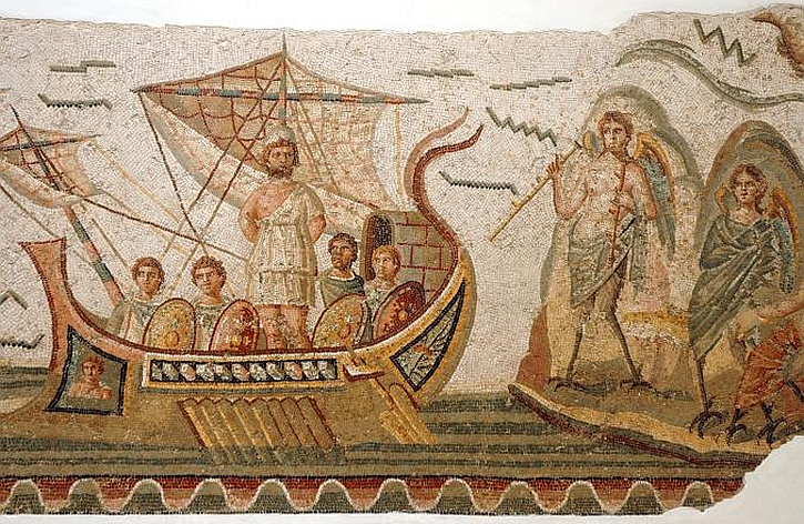 Ulysses and the Sirens: a third-century mosaic from the Roman city of Thugga, Tunisia