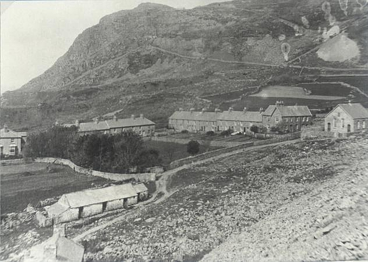 The village of Port Nant in 1910