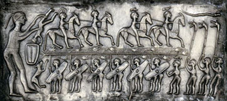 Detail from interior panel of the Gundestrup cauldron, c150-50BC