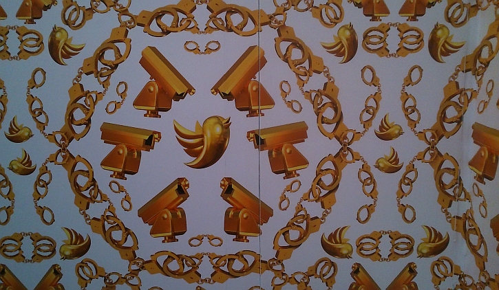 Golden Age, 2014, Wallpaper in gold