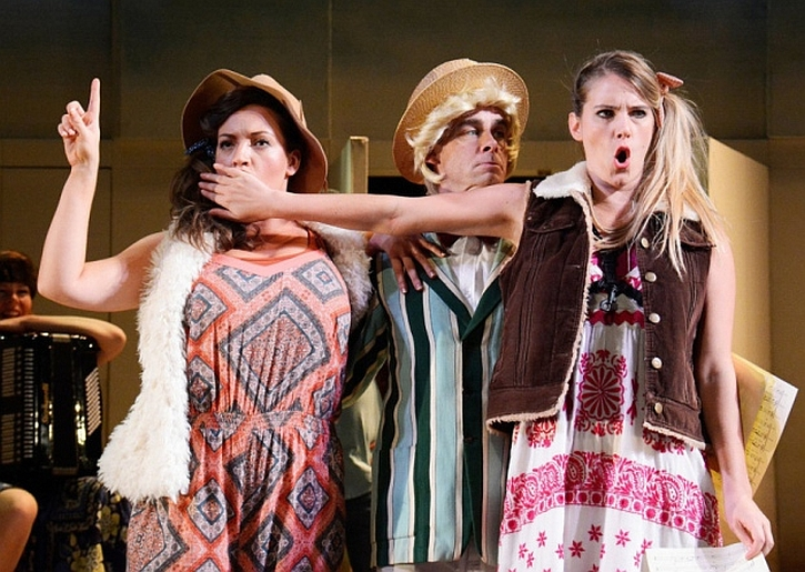 Lauryn Redding, Mike Hugo and Jessica Dyas in The Winter's Tale