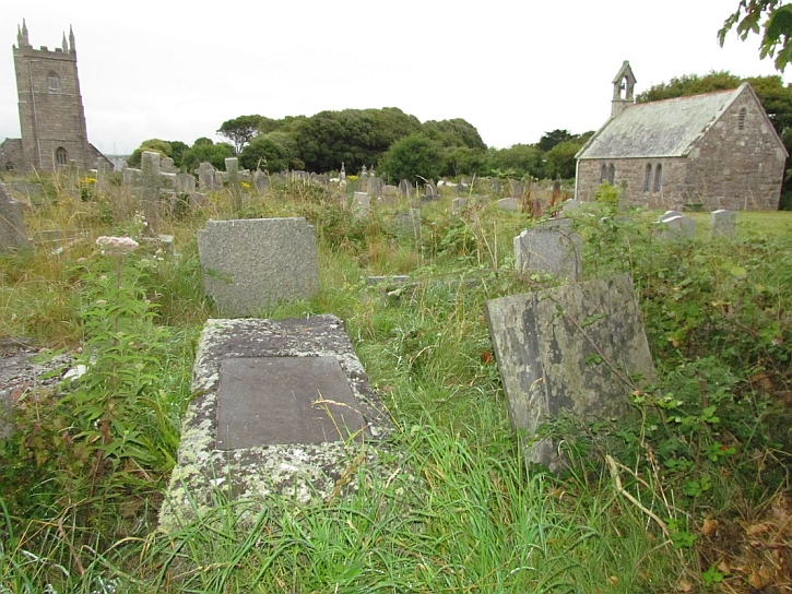 Peter Lanyon grave in Lelant churchyard