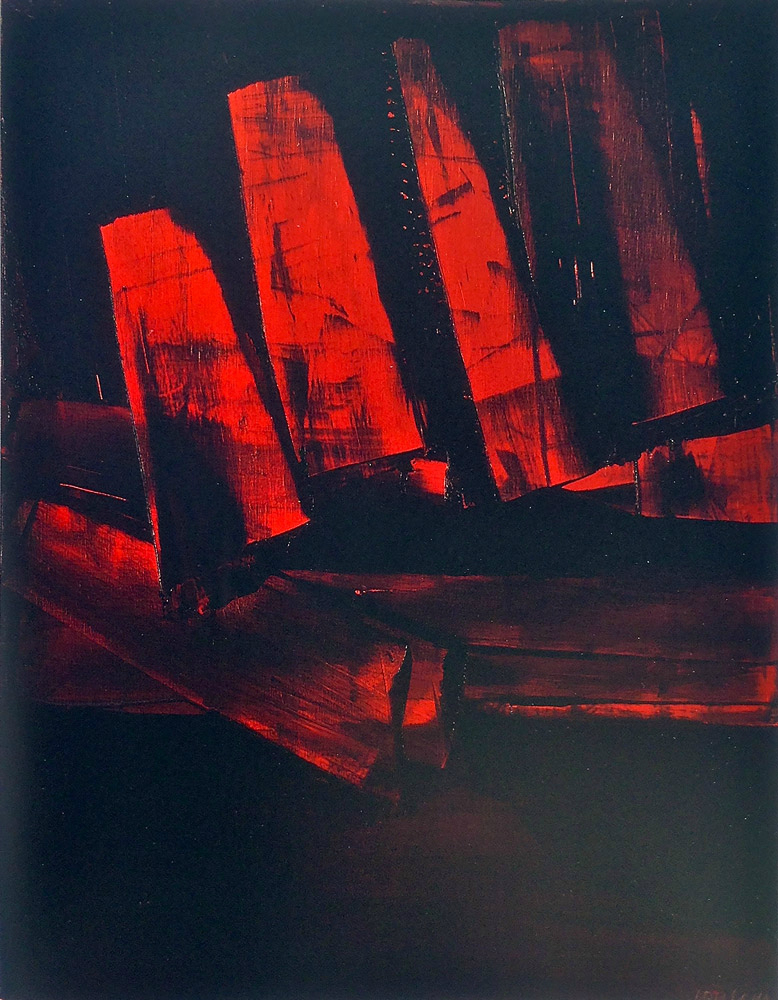 Painting by Pierre Soulages