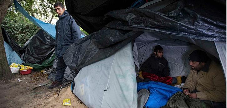 The refugee camp at Calais