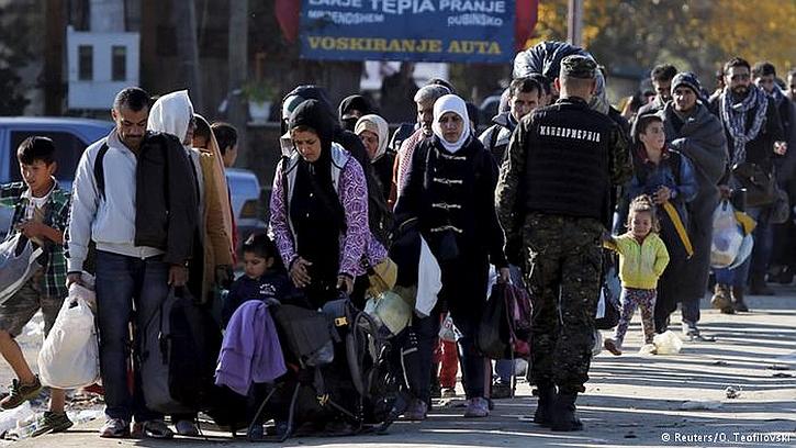 Refugees on the Greece-Macedonia border