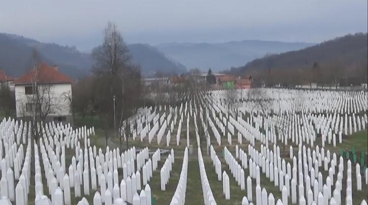 The Potocari memorial cemetery at Srebrenica